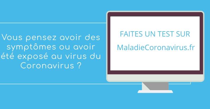 Maladiecoronavirus.fr - Application pour évaluer symptomes Maladie Coronavirus