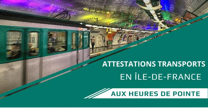 Attestation transports en commun en Ile de France à télécharger