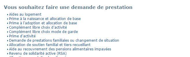 CAF.fr demande de prime d'activité