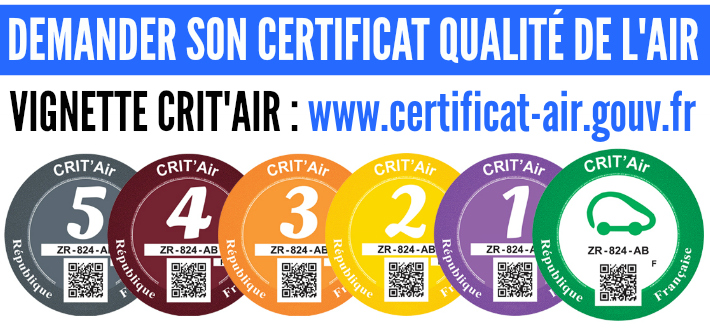 www.certificat-air.gouv.fr demande vignette Crit Air