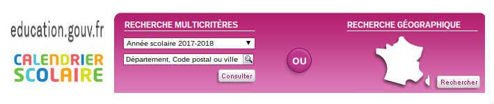 Education.gouv.fr calendrier scolaire