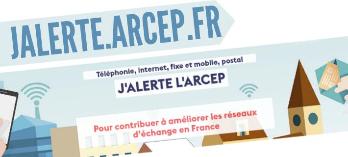 Jalerte.arcep.fr - Signaler problème avec un opérateur j'alerte l'ARCEP