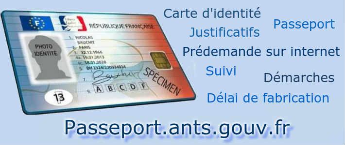gouv fr carte d identité Prédemande suivi carte identité passeport Passeport.ants.gouv.fr