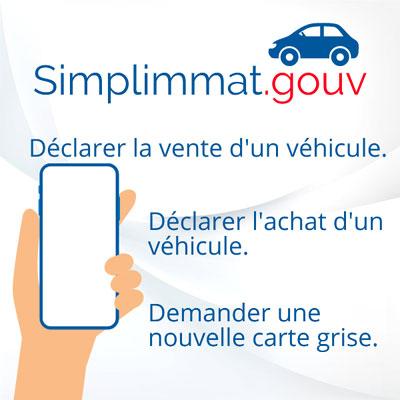 Application Simplimmat cession achat véhicule