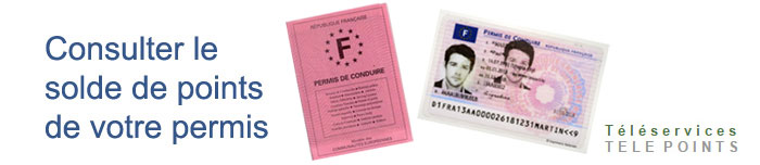 Solde du permis points for Interieur gov fr